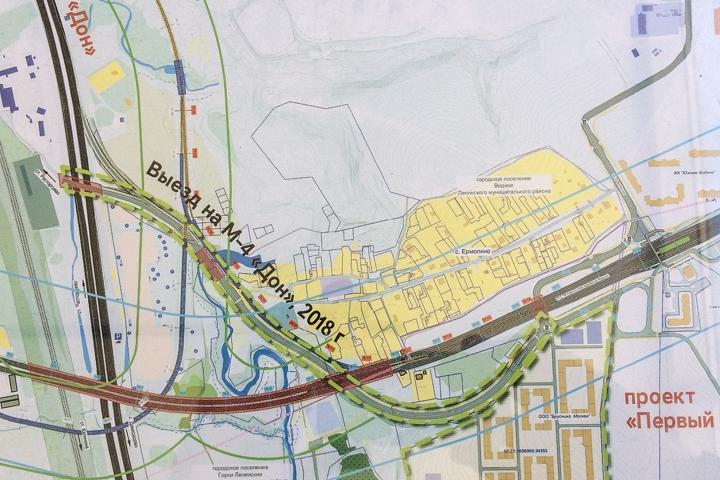 Начинается строительство отдельного выезда из новых микрорайонов на М4 «Дон»