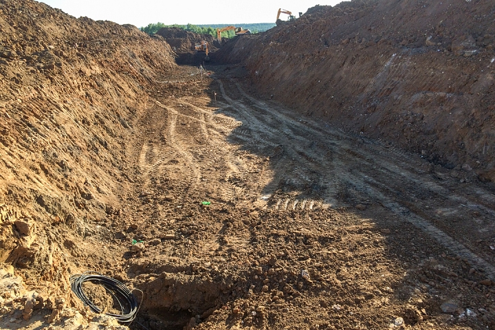 О строительстве дороги-выезда из новых микрорайонов на трассу М-4 «Дон». Июнь 2019. Фоторепортаж фото 8