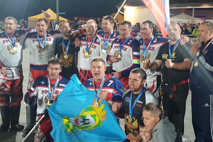 Сборная России по мотоболу 4-й год подряд стала чемпионом Европы. Фото