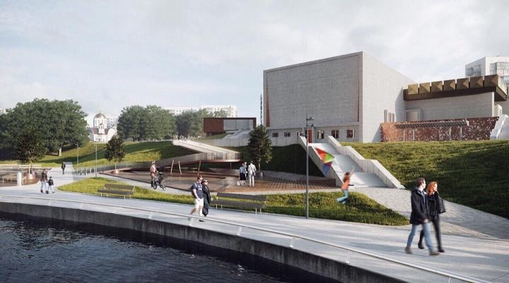 Началась масштабная реконструкция территории вокруг кинотеатра «Искра». Подробно о том, что там будет фото 7