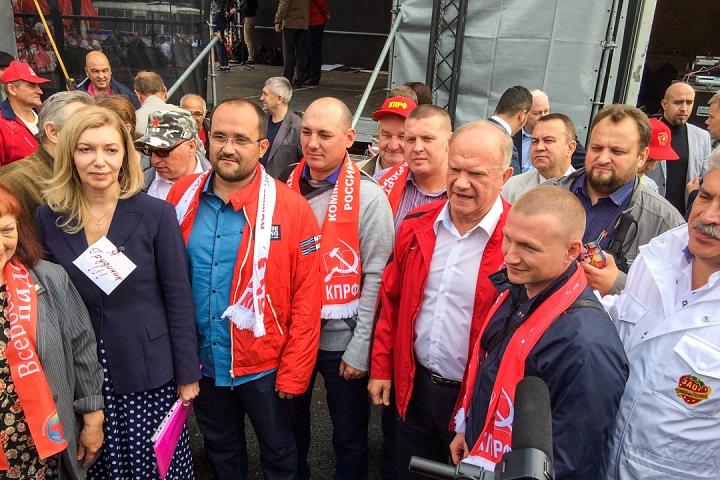 В Москве прошел митинг против рейдерского захвата и ликвидации Совхоза имени Ленина. Фото и видео фото 12