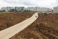 О строительстве дороги - выезда из новых микрорайонов на трассу М-4 «Дон». Июль 2019. Фоторепортаж