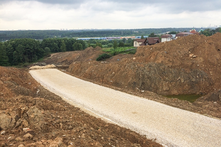 О строительстве дороги - выезда из новых микрорайонов на трассу М-4 «Дон». Июль 2019. Фоторепортаж фото 15
