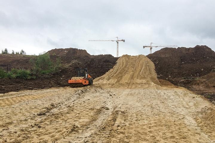 О строительстве дороги - выезда из новых микрорайонов на трассу М-4 «Дон». Июль 2019. Фоторепортаж фото 14
