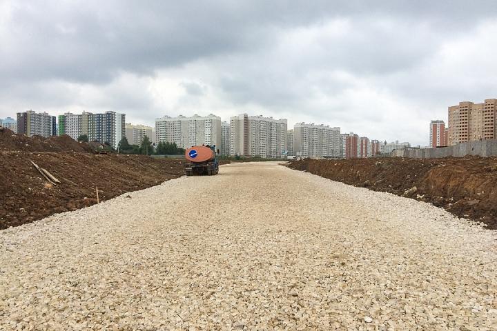 О строительстве дороги - выезда из новых микрорайонов на трассу М-4 «Дон». Июль 2019. Фоторепортаж фото 10
