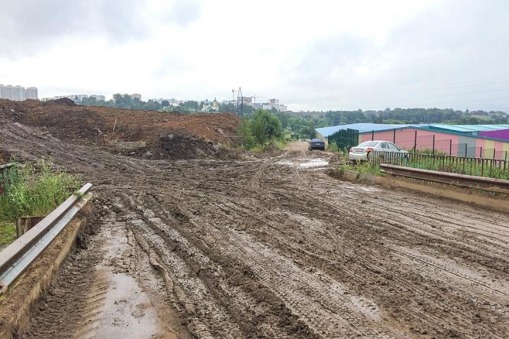 О строительстве дороги - выезда из новых микрорайонов на трассу М-4 «Дон». Июль 2019. Фоторепортаж фото 9