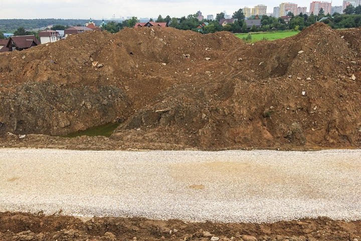 О строительстве дороги - выезда из новых микрорайонов на трассу М-4 «Дон». Июль 2019. Фоторепортаж фото 16