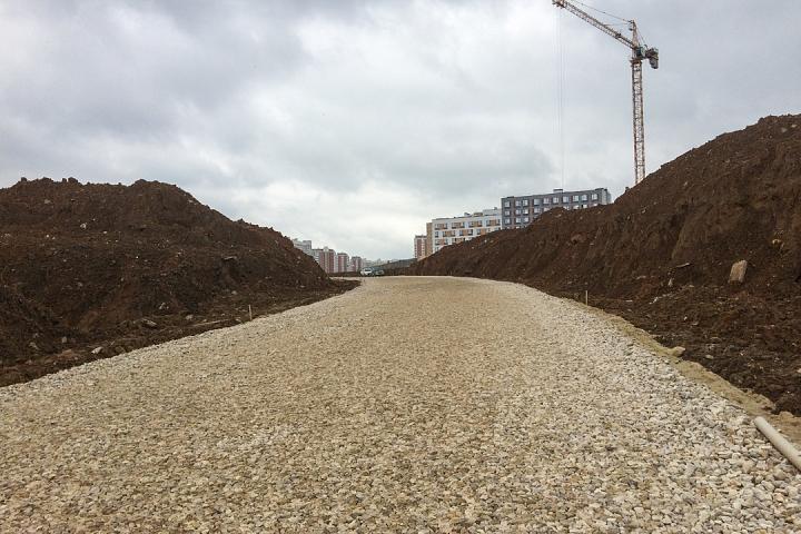 О строительстве дороги - выезда из новых микрорайонов на трассу М-4 «Дон». Июль 2019. Фоторепортаж фото 4