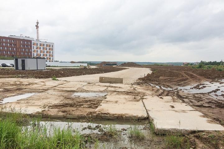 О строительстве дороги - выезда из новых микрорайонов на трассу М-4 «Дон». Июль 2019. Фоторепортаж фото 3