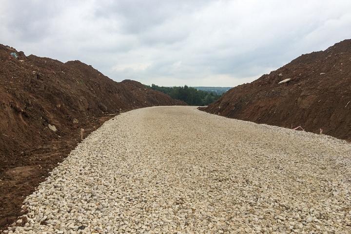 О строительстве дороги - выезда из новых микрорайонов на трассу М-4 «Дон». Июль 2019. Фоторепортаж фото 11