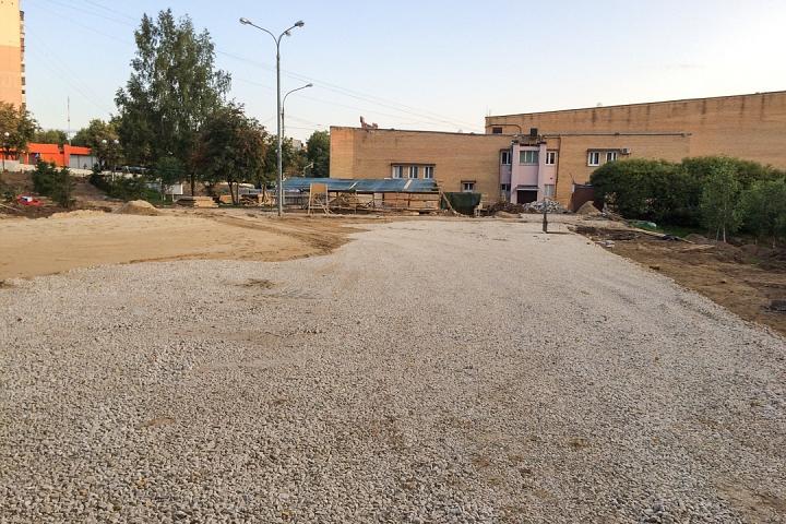 Продолжается реконструкция территории у к/т «Искра», начинается реконструкция фасадов 20-ти ближайших домов. Фоторепортаж фото 28