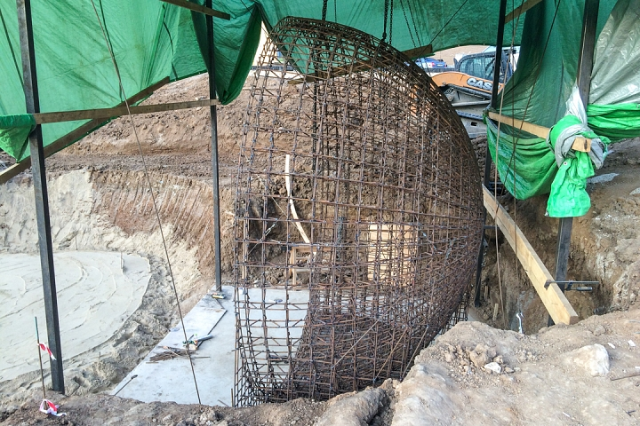 Продолжается реконструкция территории у к/т «Искра», начинается реконструкция фасадов 20-ти ближайших домов. Фоторепортаж фото 7