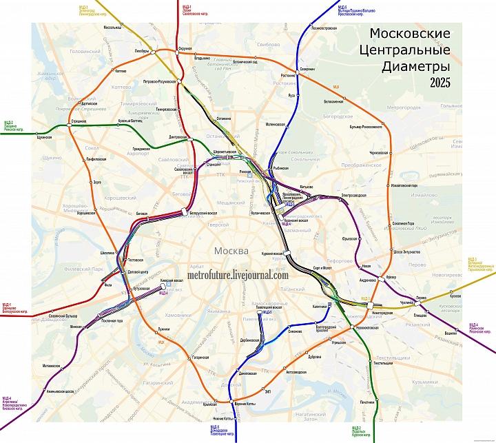 Альтернативный вариант прохождения линии МЦД-5