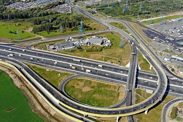 Открыто движение на реконструированной развязке МКАД – Бесединское шоссе