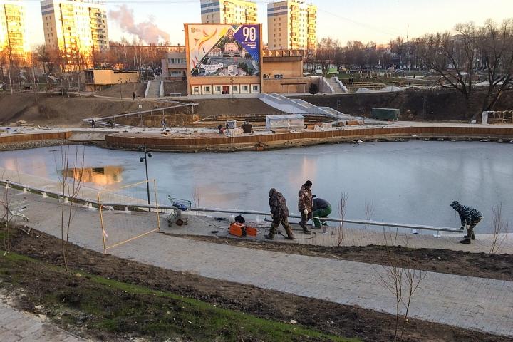 Заканчивается масштабное благоустройство центра города Видное. Фоторепортаж фото 21