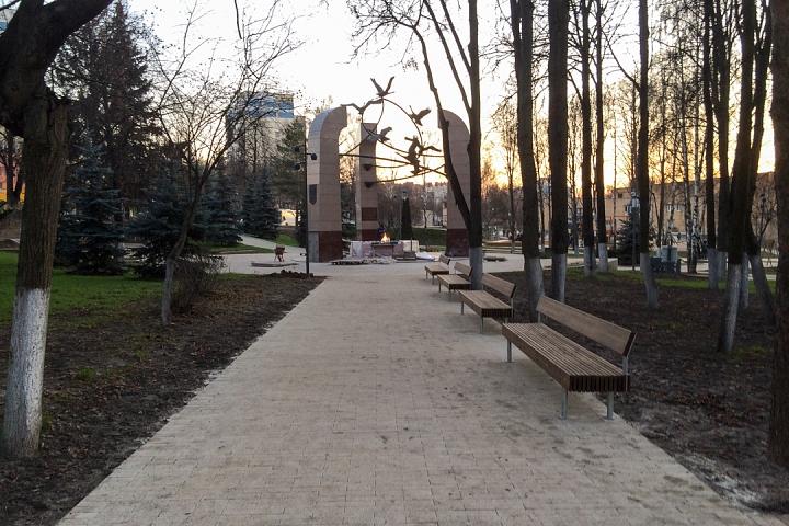 Заканчивается масштабное благоустройство центра города Видное. Фоторепортаж фото 54