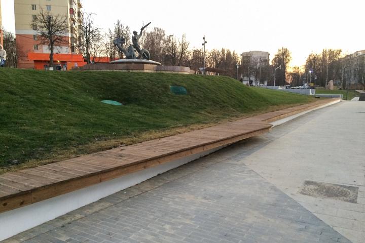 Заканчивается масштабное благоустройство центра города Видное. Фоторепортаж фото 67
