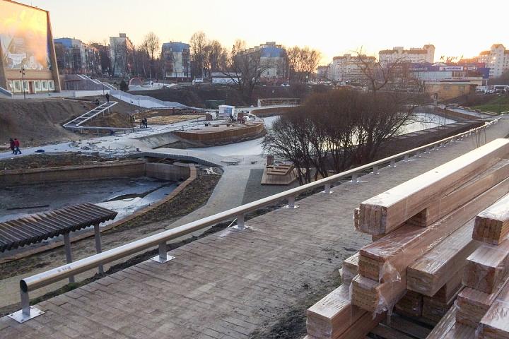 Заканчивается масштабное благоустройство центра города Видное. Фоторепортаж фото 25
