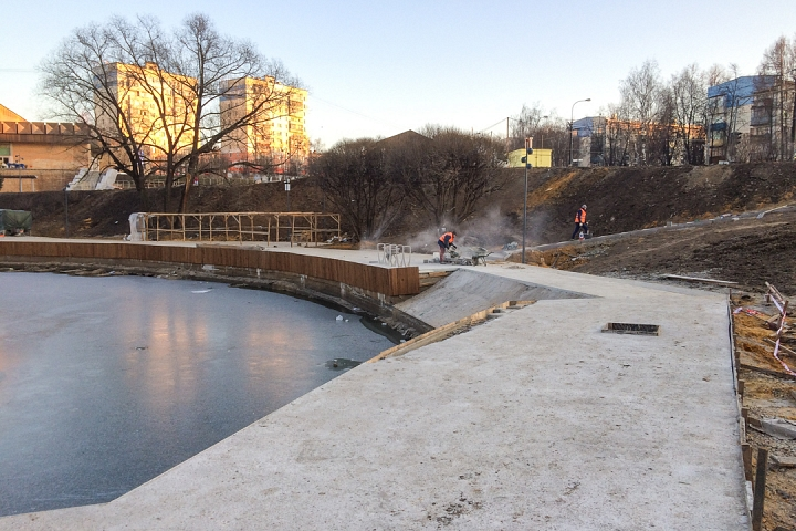 Заканчивается масштабное благоустройство центра города Видное. Фоторепортаж фото 19