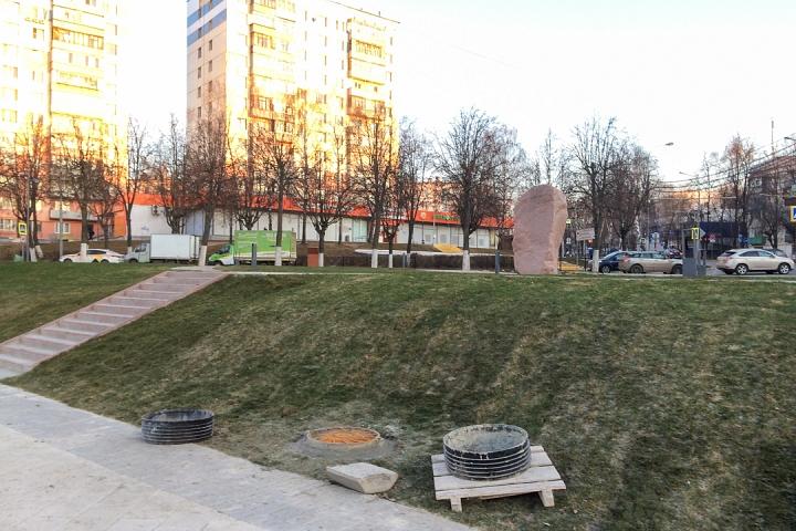 Заканчивается масштабное благоустройство центра города Видное. Фоторепортаж фото 14