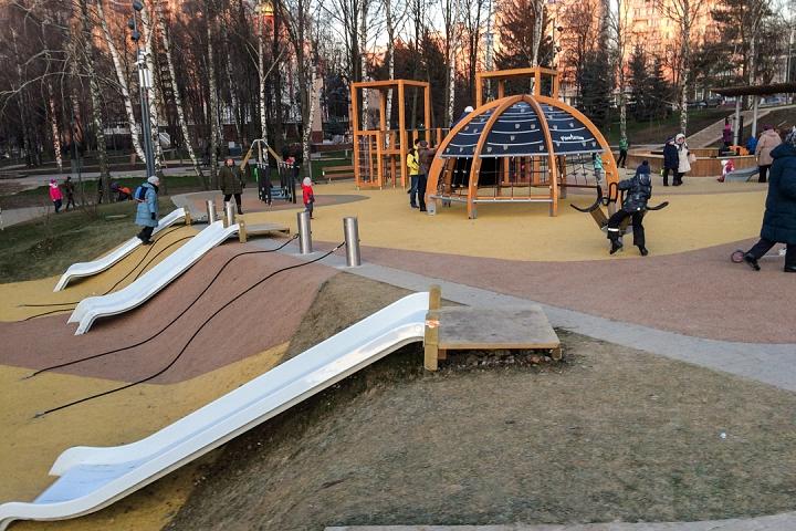 Заканчивается масштабное благоустройство центра города Видное. Фоторепортаж фото 45