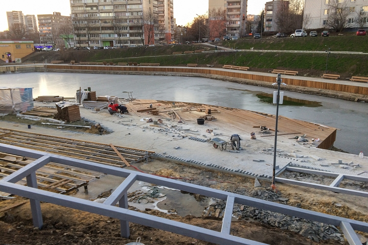 Заканчивается масштабное благоустройство центра города Видное. Фоторепортаж фото 38
