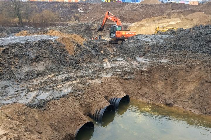О строительстве дороги-выезда на трассу М-4 «Дон». Декабрь 2019. Фоторепортаж