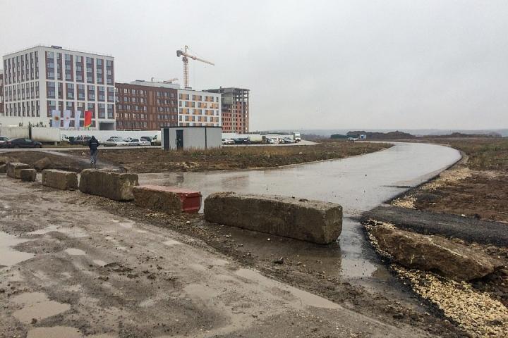 О строительстве дороги-выезда на трассу М-4 «Дон». Декабрь 2019. Фоторепортаж фото 3