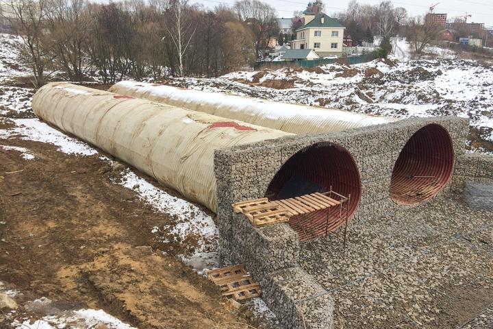 О строительстве дороги-выезда на трассу М-4 «Дон». Февраль 2020. Фоторепортаж