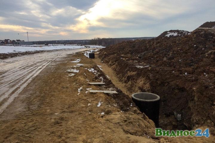 О строительстве дороги-выезда на трассу М-4 «Дон». Февраль 2020. Фоторепортаж фото 16