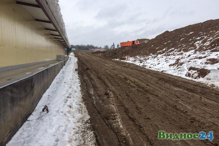 О строительстве дороги-выезда на трассу М-4 «Дон». Февраль 2020. Фоторепортаж фото 53