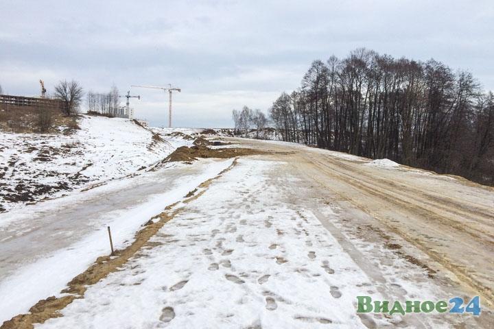 О строительстве дороги-выезда на трассу М-4 «Дон». Февраль 2020. Фоторепортаж фото 26