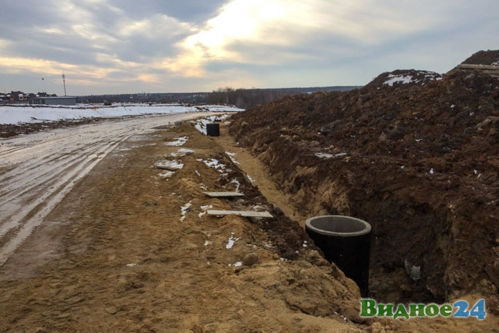 О строительстве дороги-выезда на трассу М-4 «Дон». Февраль 2020. Фоторепортаж фото 3