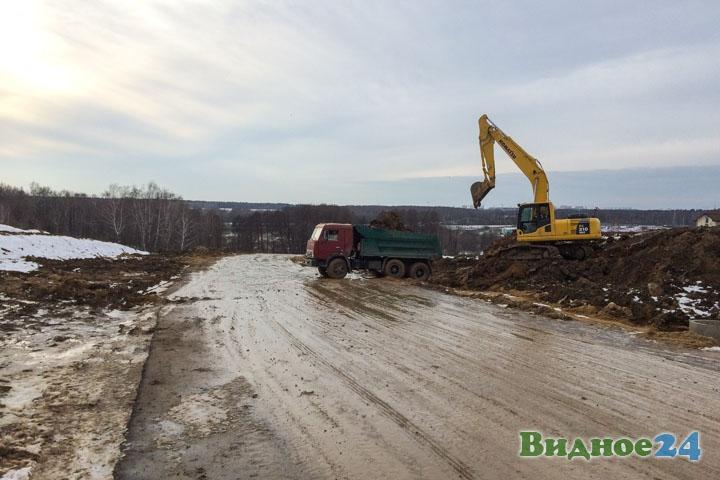 О строительстве дороги-выезда на трассу М-4 «Дон». Февраль 2020. Фоторепортаж фото 4