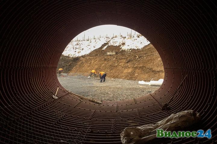 О строительстве дороги-выезда на трассу М-4 «Дон». Февраль 2020. Фоторепортаж фото 38