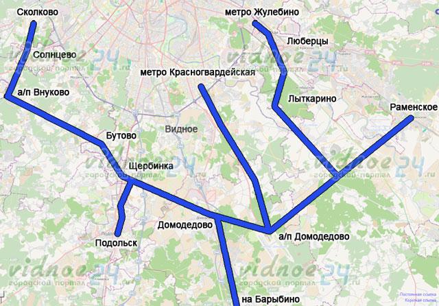 Карта путей скоростных