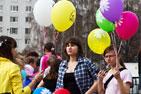 В Видном состоялся  флешмоб «Воздушные шары». Фоторепортаж