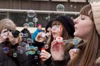 «Мыльные пузыри». Фоторепортаж с первого в истории города Видное флешмоба