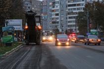 В городе вовсю идет ремонт дорожного покрытия множества улиц и реконструкция перекрестка ПЛК/Заводская/Белокаменное шоссе