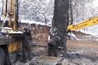 В центре города Видное за два дня варварски уничтожено более сотни деревьев на территории около 1 га