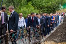 ВРИО губернатора Андрей Воробьев посетил «Тимоховский овраг», застройку которого он запретил в декабре 2012. Фото- и видеорепортаж