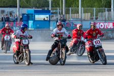 Состоялась первая домашняя игра видновской мотобольной команды «Металлург» в рамках ЧР. Фоторепортаж